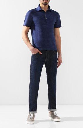Мужские джинсы прямого кроя ANDREA CAMPAGNA синего цвета, арт. ACCR19LAVL   Фото 2