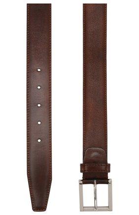 Мужской кожаный ремень KITON коричневого цвета, арт. USC492PN00101 | Фото 2