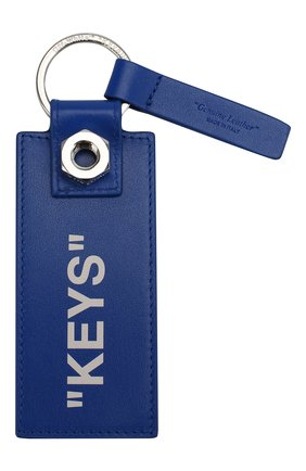 Мужской кожаный брелок OFF-WHITE синего цвета, арт. 0MNF015S19D410313001 | Фото 2
