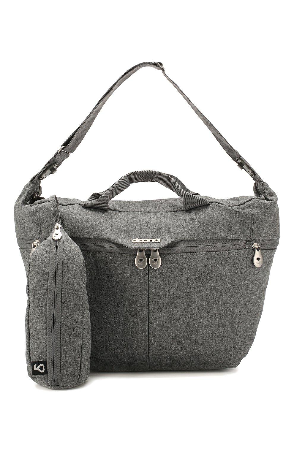 Детская сумка для коляски  doona medium SIMPLE PARENTING серого цвета, арт. SP104-99-006-099   Фото 4 (Статус проверки: Проверена категория)