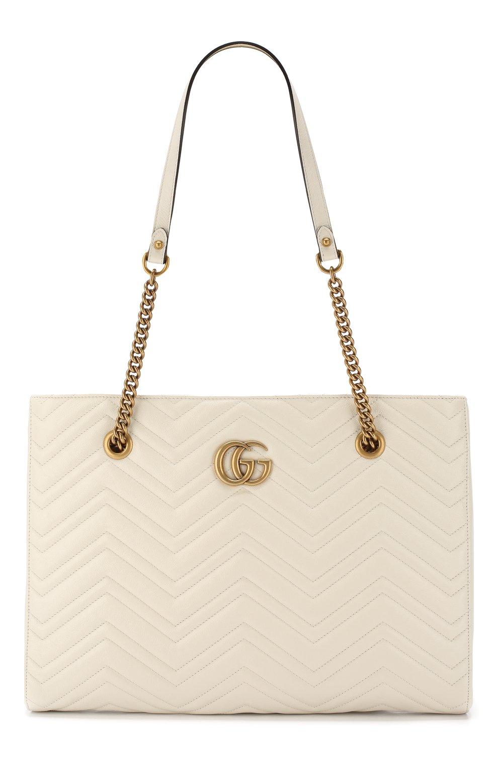 Сумка-тоут GG Marmont  Gucci кремовая цвета | Фото №1