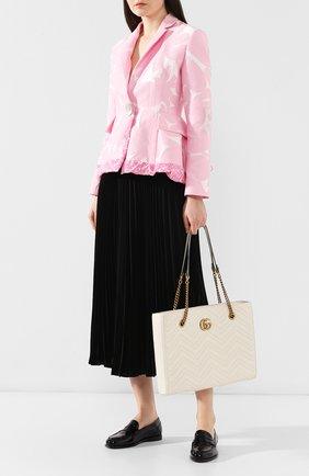 Сумка-тоут GG Marmont  Gucci кремовая цвета | Фото №2