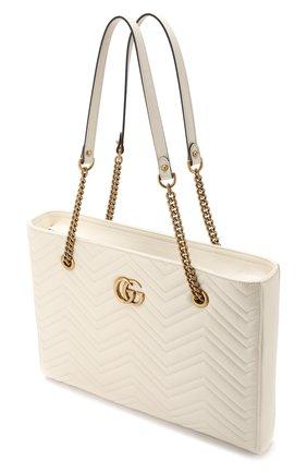 Сумка-тоут GG Marmont  Gucci кремовая цвета | Фото №4