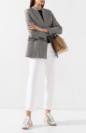 Женские кожаные кроссовки vibe PIERRE HARDY белого цвета, арт. RS02/CALF | Фото 2