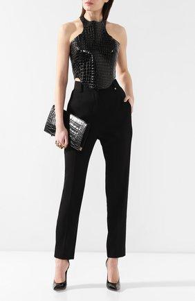Женская кожаный топ TOM FORD черного цвета, арт. TSL244-LEX206 | Фото 2
