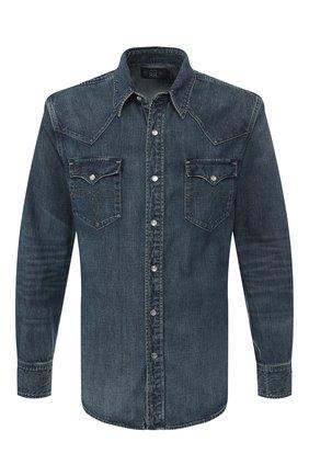 Мужская джинсовая рубашка RRL синего цвета, арт. 782505188 | Фото 1