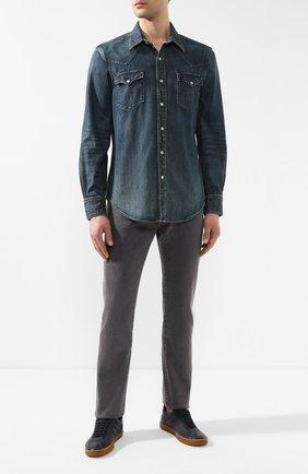 Мужская джинсовая рубашка RRL синего цвета, арт. 782505188 | Фото 2