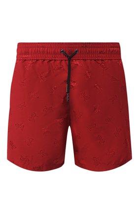 Детского плавки-шорты BOTTEGA VENETA красного цвета, арт. 520194/4V010 | Фото 1