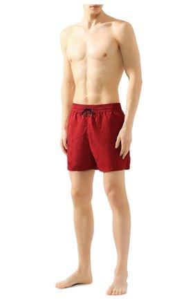 Детского плавки-шорты BOTTEGA VENETA красного цвета, арт. 520194/4V010 | Фото 2