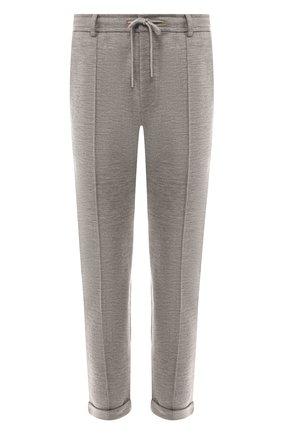 Мужской брюки из смеси хлопка и шерсти RALPH LAUREN серого цвета, арт. 790729513 | Фото 1