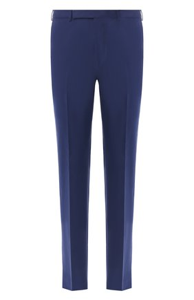 Мужской брюки из смеси хлопка и кашемира ERMENEGILDO ZEGNA синего цвета, арт. 566F15/77TB12 | Фото 1