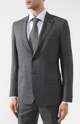 Костюм из смеси шерсти и шелка Brioni серый | Фото №2