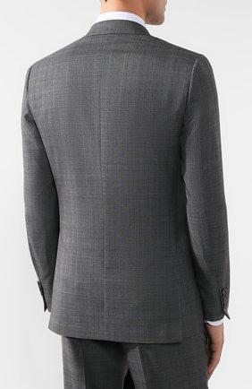 Костюм из смеси шерсти и шелка Brioni серый | Фото №3