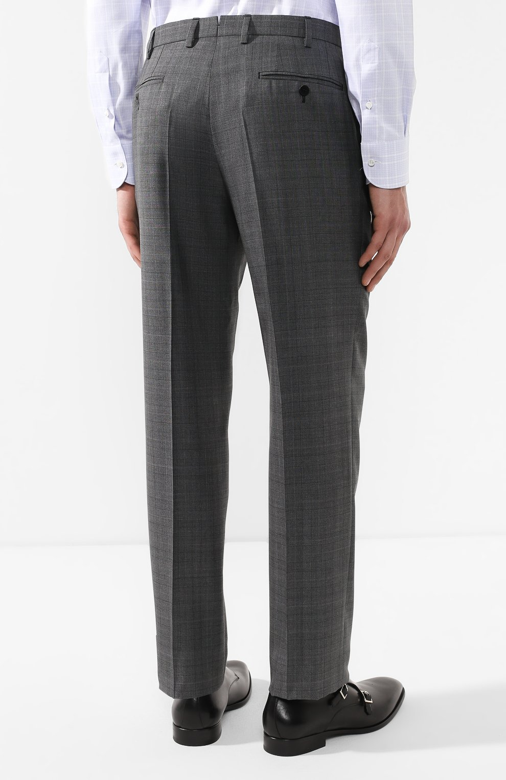 Костюм из смеси шерсти и шелка Brioni серый | Фото №5