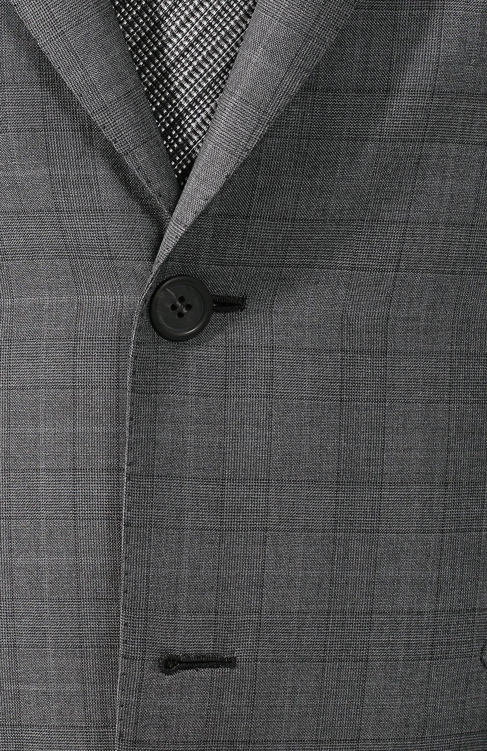 Костюм из смеси шерсти и шелка Brioni серый | Фото №6