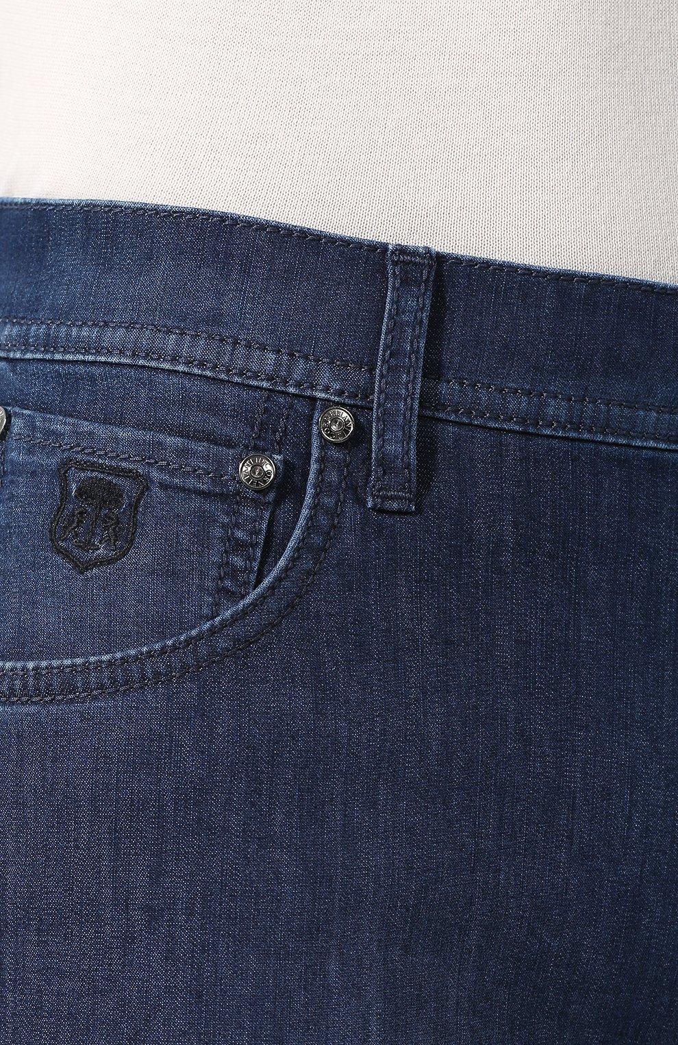 Джинсы прямого кроя Corneliani синие | Фото №5