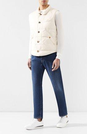 Мужские джинсы прямого кроя CORNELIANI синего цвета, арт. 834JD4-9120156/00 | Фото 2