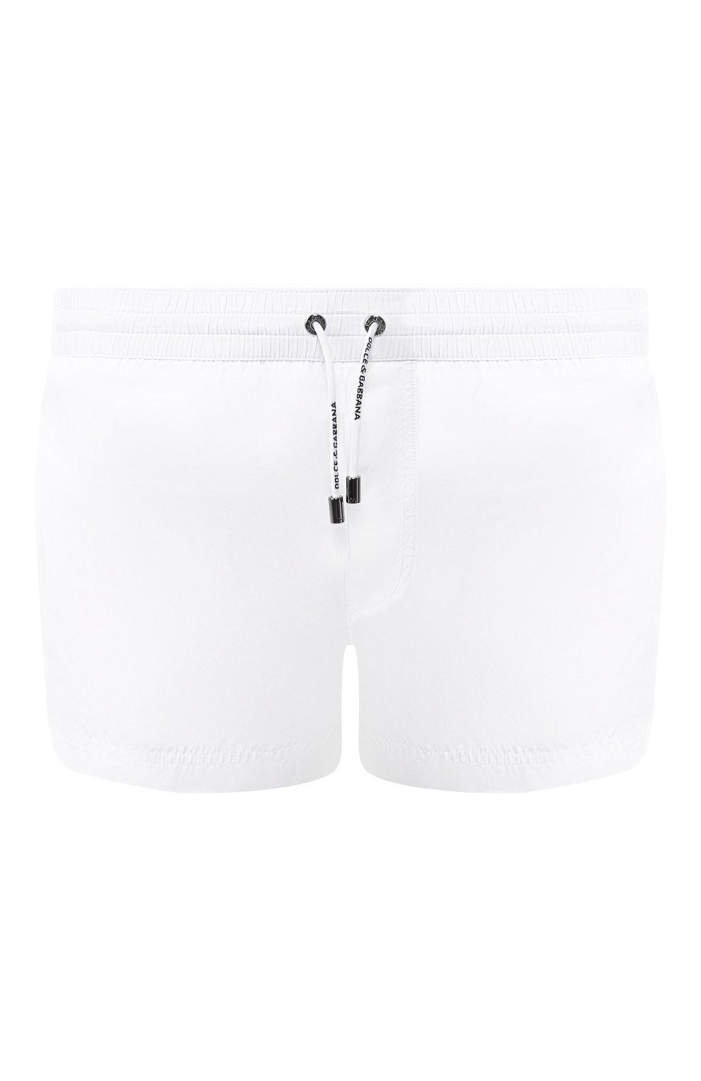 1b57d935240d2 Мужские белые плавки-шорты DOLCE & GABBANA — купить за 23950 руб. в ...