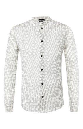 Мужская шерстяная рубашка GIORGIO ARMANI серого цвета, арт. 3GSC53/SJEXZ | Фото 1