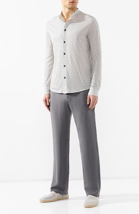 Мужская шерстяная рубашка GIORGIO ARMANI серого цвета, арт. 3GSC53/SJEXZ | Фото 2