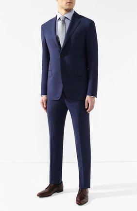Мужская хлопковая рубашка с воротником кент ETON синего цвета, арт. 7640 79511   Фото 2