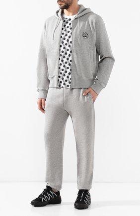 Мужская хлопковая толстовка KENZO серого цвета, арт. 5BL7574MD | Фото 2