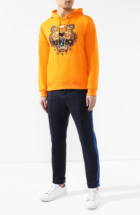 Мужской хлопковое худи  KENZO оранжевого цвета, арт. 5SW4154XA   Фото 2