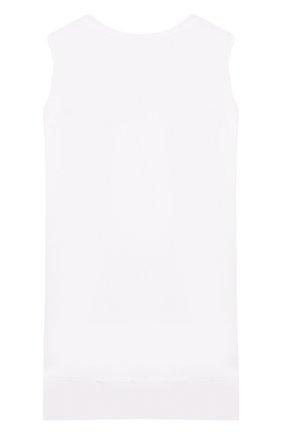 Детский хлопковый топ MONNALISA белого цвета, арт. 17CCAN | Фото 2