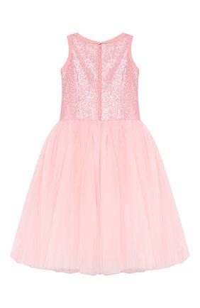Детское платье-миди MONNALISA розового цвета, арт. 793906R3 | Фото 2