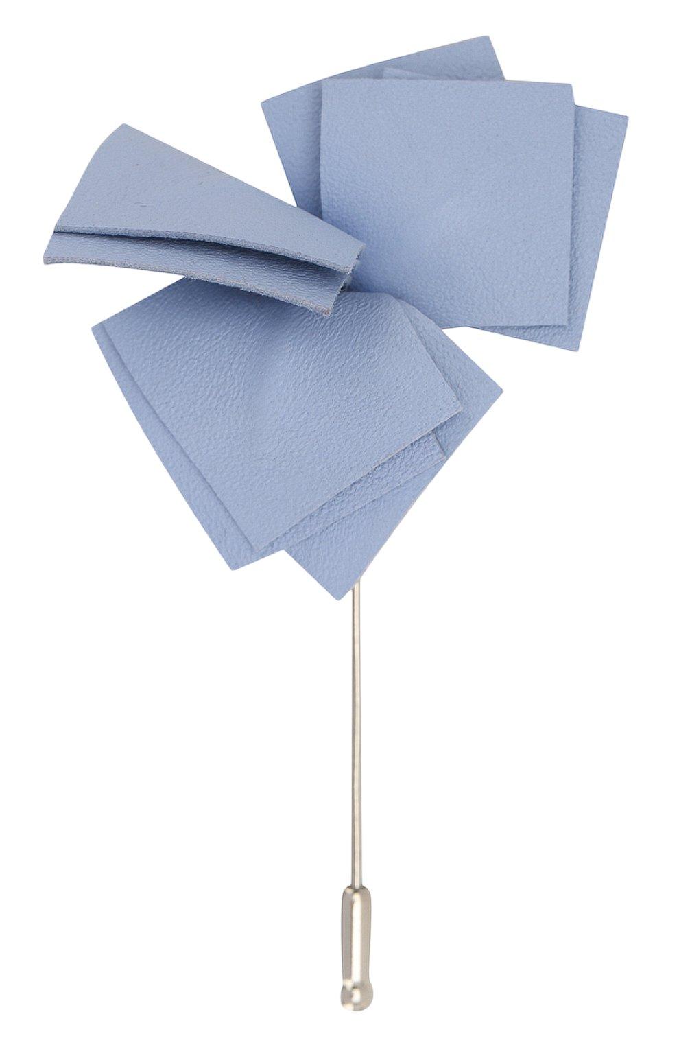 Мужская брошь FLOWER ME голубого цвета, арт. NONME-LT018010S1   Фото 1