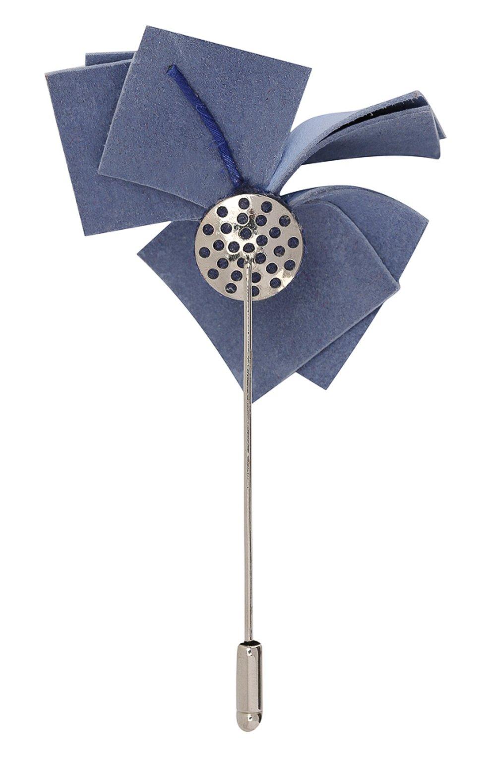 Мужская брошь FLOWER ME голубого цвета, арт. NONME-LT018010S1   Фото 2
