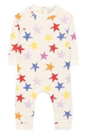 Детский хлопковый комбинезон STELLA MCCARTNEY разноцветного цвета, арт. 539989/SMJI6   Фото 1