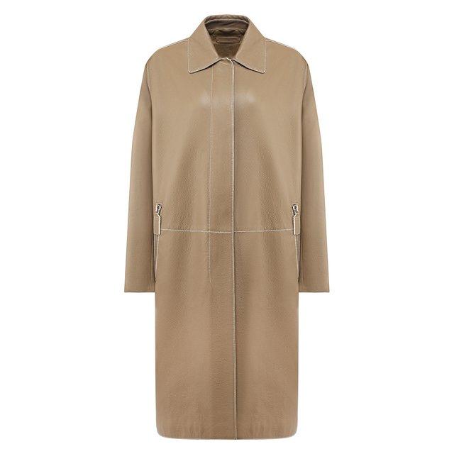 Кожаное пальто Bottega Veneta