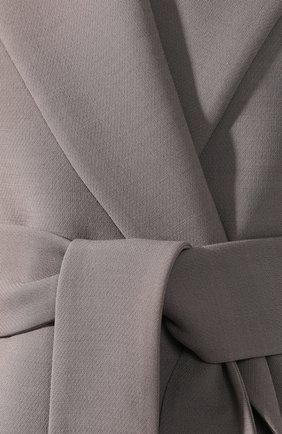 Жакет с поясом The Row серый | Фото №5