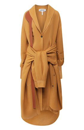 Пальто из смеси льна и вискозы | Фото №1