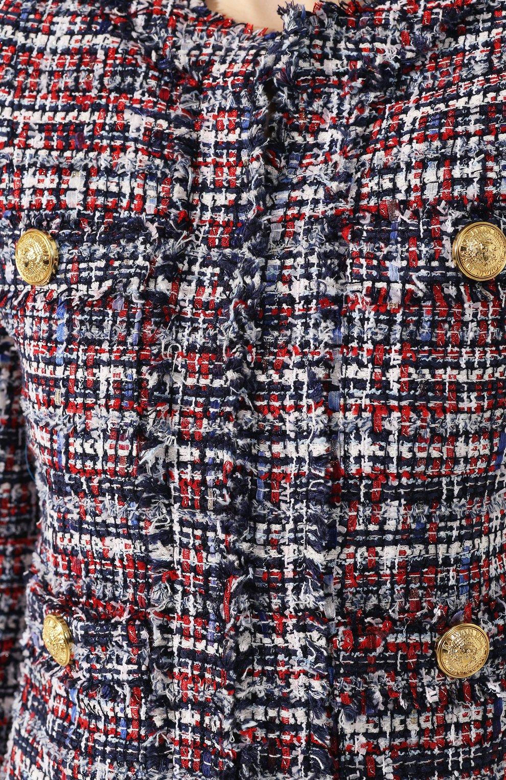 Твидовый жакет Balmain разноцветный   Фото №5