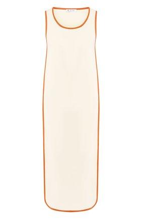 Шелковое платье Loro Piana кремовое | Фото №1
