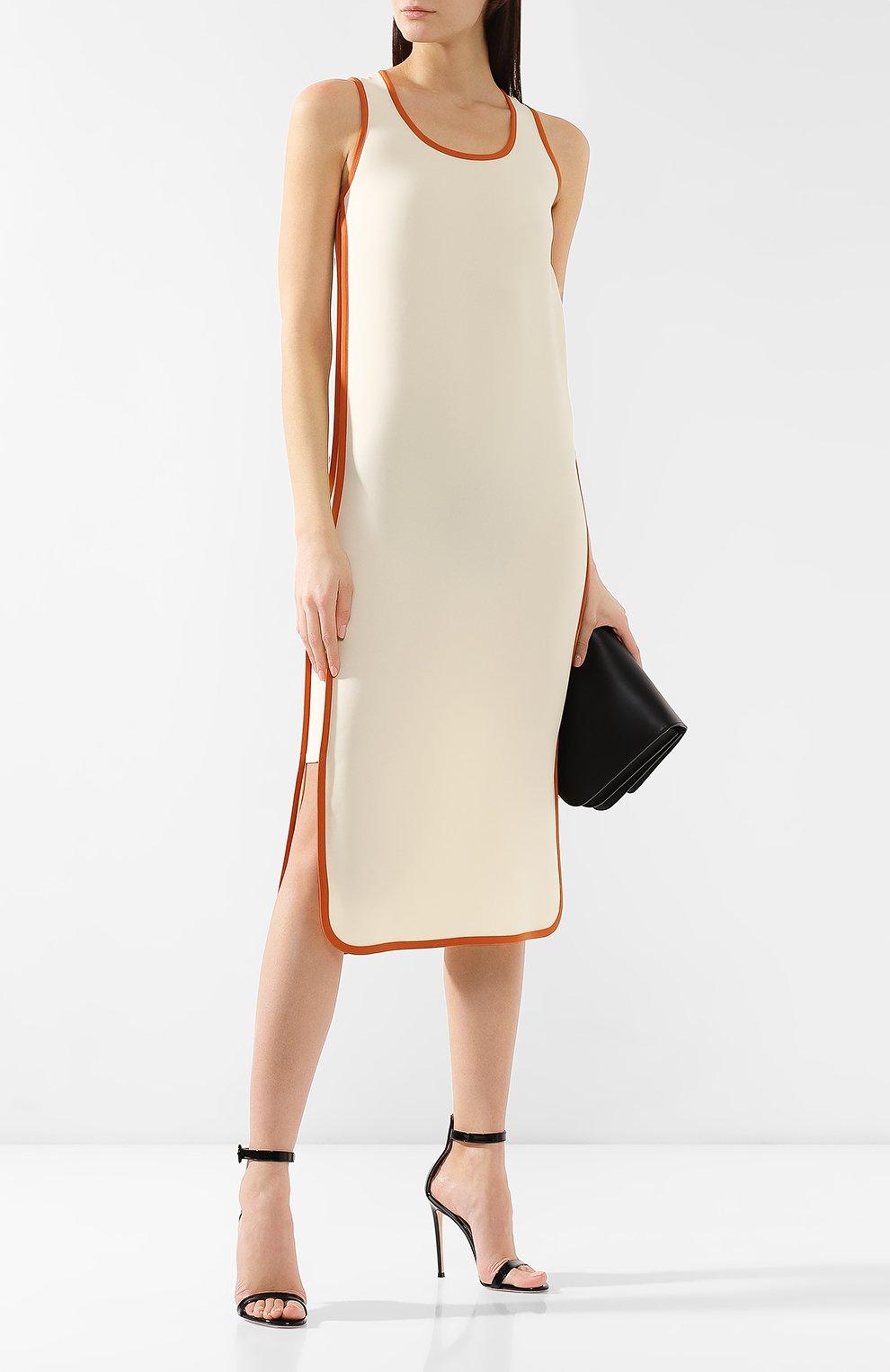 Шелковое платье Loro Piana кремовое | Фото №2