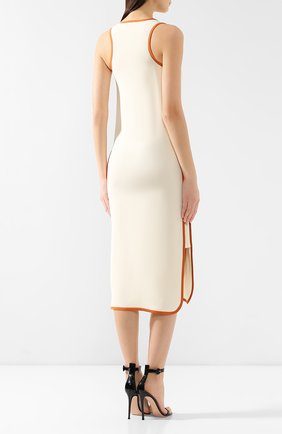Шелковое платье Loro Piana кремовое | Фото №4