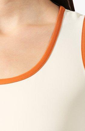 Шелковое платье Loro Piana кремовое | Фото №5