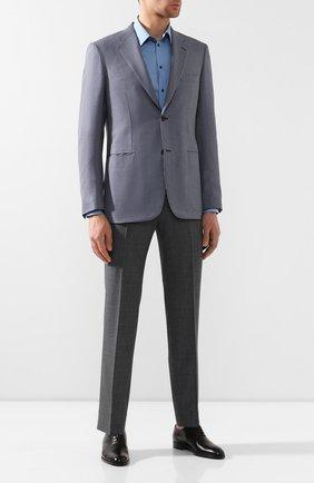 Мужской пиджак из смеси шерсти и шелка BRIONI синего цвета, арт. RGI30M/P8A0P | Фото 2