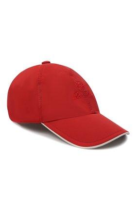 Мужской бейсболка LORO PIANA красного цвета, арт. FAB1977 | Фото 1