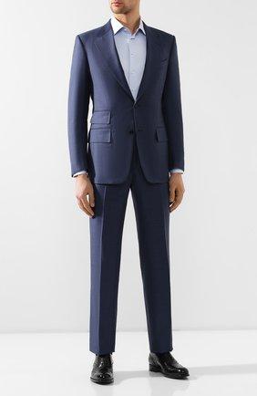 Мужской шерстяной костюм TOM FORD голубого цвета, арт. 322R05/21AA43 | Фото 1