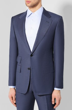 Мужской шерстяной костюм TOM FORD голубого цвета, арт. 322R05/21AA43 | Фото 2