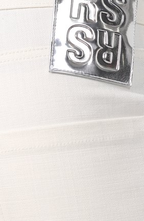 Джинсы прямого кроя Raf Simons кремовые | Фото №5