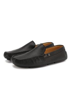 Мужские кожаные мокасины BARRETT черного цвета, арт. ASC-9343.6/CERV0 | Фото 1