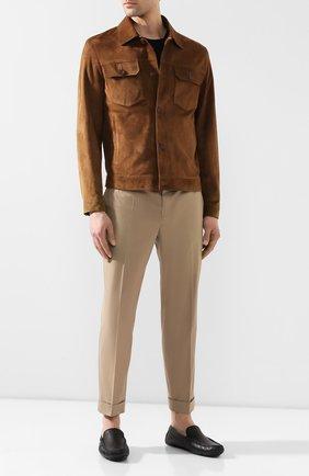 Мужские кожаные мокасины BARRETT черного цвета, арт. ASC-9343.6/CERV0 | Фото 2