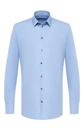 Мужская хлопковая сорочка с воротником кент DOLCE & GABBANA голубого цвета, арт. G5EJ1T/FU5K9 | Фото 1