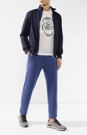 Мужская хлопковая футболка  ZILLI белого цвета, арт. MER-NT530-JEWI1/MC01   Фото 2