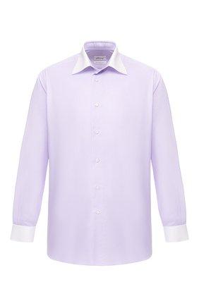 Мужская хлопковая рубашка с воротником кент BRIONI сиреневого цвета, арт. RCLU2L/P806H | Фото 1